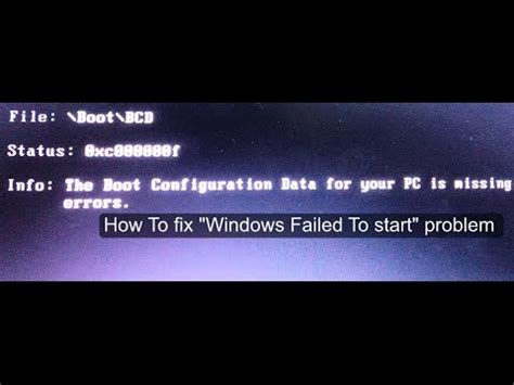 Startup Right After Mba And Failed by How To Fix Quot The Boot Configuration Data For Your Pc Is
