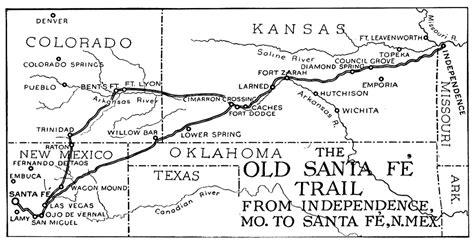 map of oregon trail through kansas the santa fe trail through kansas