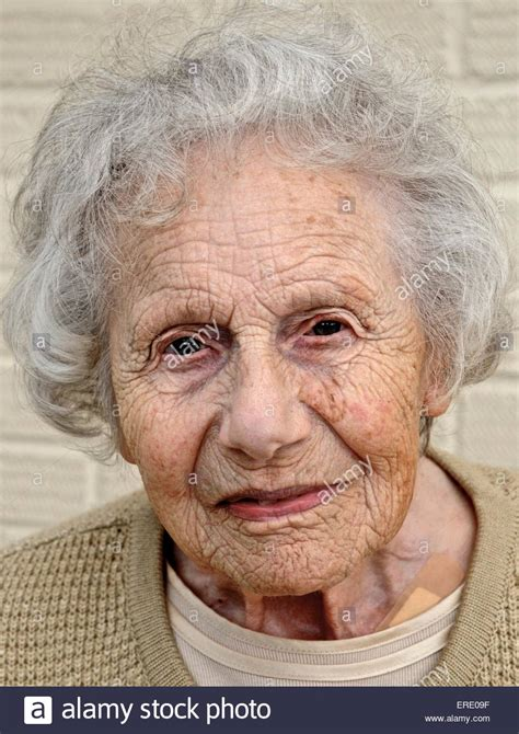 old ladies old womans face lady pensioner citizen aged ancient stock