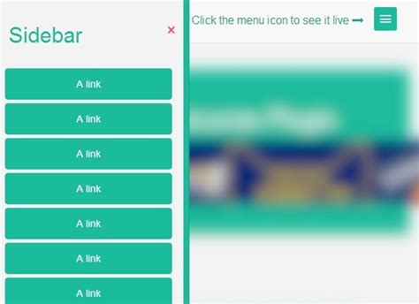 how to create a animated sidebar menu using html css jquery sidebar navigation with cool blurring effect