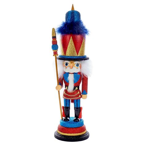 northlight 36 in red blue and gold wooden christmas