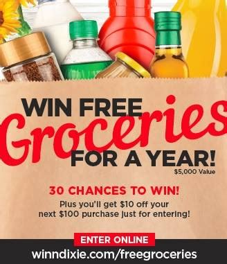 winn dixie free groceries sweepstakes rare coupon - Winn Dixie Sweepstakes
