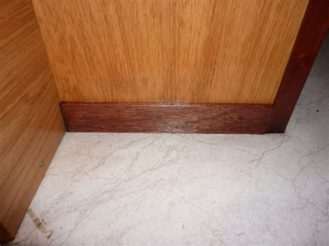 skirting board in bathroom squirrel