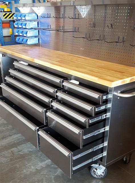 drawer   stainless steel tool bench led