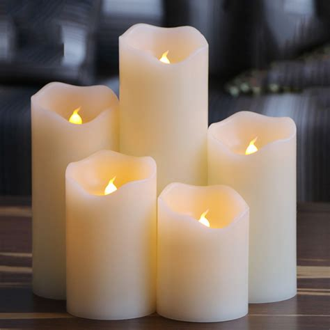 candle light decoration at home flameless uneven edge electrical paraffin wax led candle