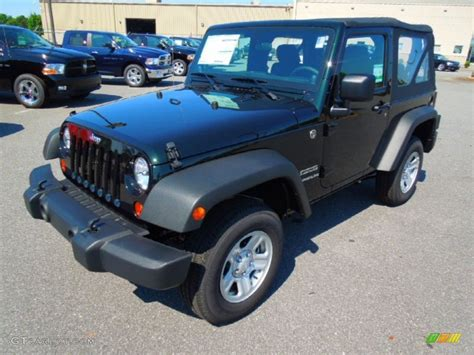 Forest Green Jeep 2012 Black Forest Green Pearl Jeep Wrangler Sport 4x4