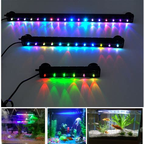 color changing led fish tank lights aquarium submersible air colour