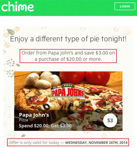 Where To Buy Papa John S Gift Cards - lots of chime card offers papa john s today only 4 black friday deals 25 days of