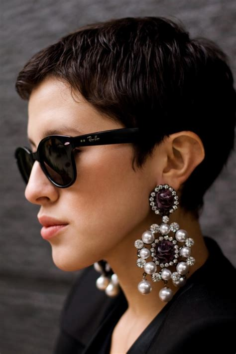 pixie cut big ears style obsession statement earrings the fashion tag blog