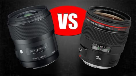 lens comparison sigma mm  art  canon mm