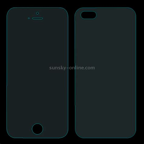 Tempered Glass Ip5s sunsky 0 26mm explosion proof front and back screen protector tempered glass for iphone 5
