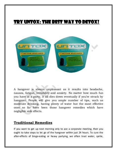 Detox Headache Nausea by Try Untox The Best Way To Detox