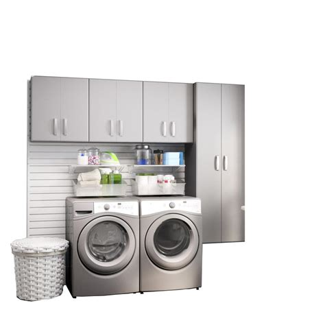 Modifi Horizon 105 In W White Laundry Cabinet Kit Enl105 Laundry Room Storage Bins