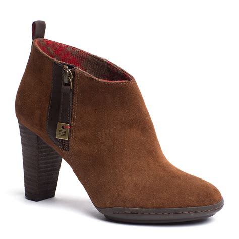 hilfiger ankle boots in brown cognac lyst