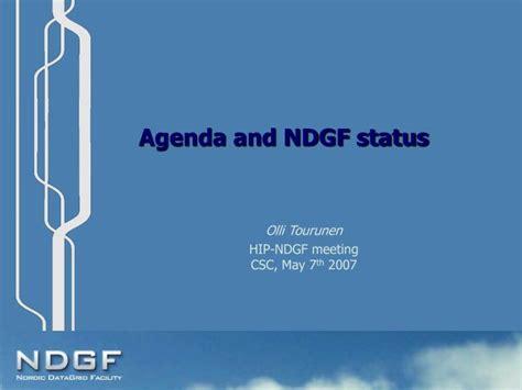agenda  ndgf status powerpoint  id
