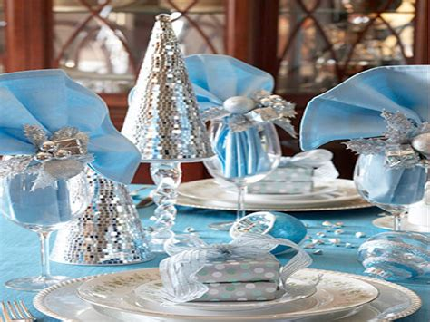 dining room slipcovers blue and silver christmas