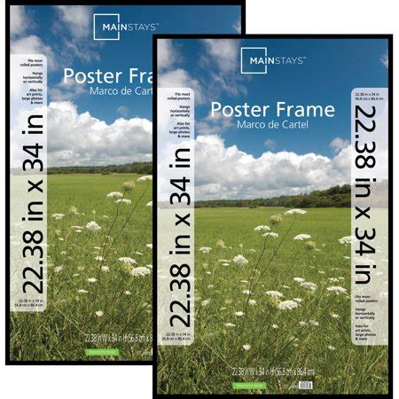 21 X 34 Poster Frame by Mainstays 22x34 Basic Poster Picture Frame Black Set