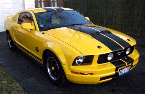 2005 ford mustang yellow screaming yellow 2005 ford mustang coupe mustangattitude