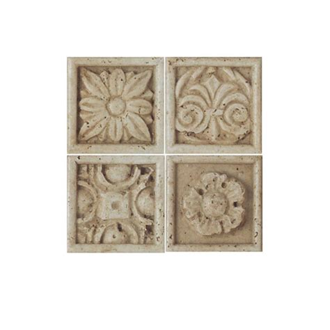 daltile fashion accents travertine 2 in x 2 in positano ceramic wall tile fa2222dotscc1p the