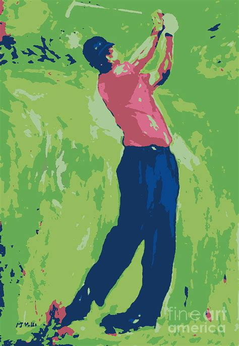 tiger woods swing portrait tiger wood swing by patrick mills