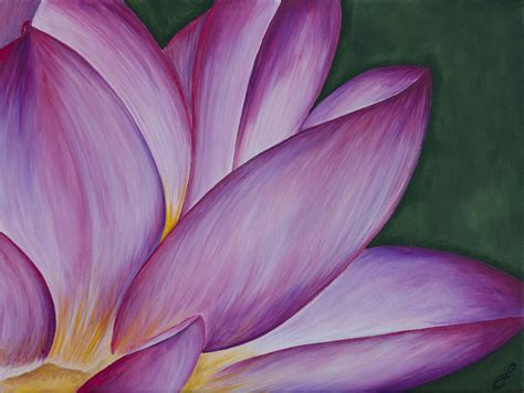 how to paint acrylic on canvas flowers lotus flower acrylic painting www jennifernoseworthy