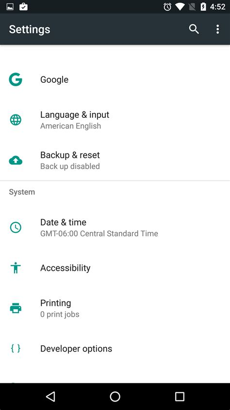 settings android settings get reved diving into android n android authority