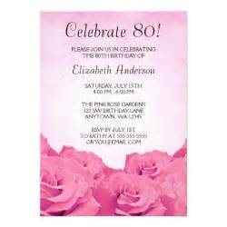 free printable 80th birthday invitations drevio