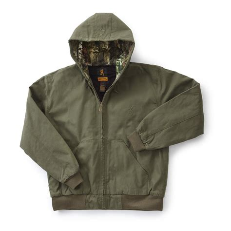 Hooded Cotton Jacket browning 174 hooded cotton canvas jacket 593793 insulated