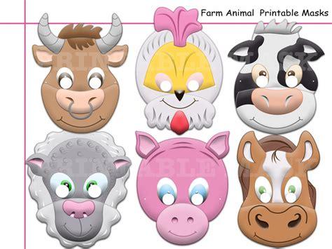 printable animal photo booth props unique barnyard animals farm printable by holidaypartystar