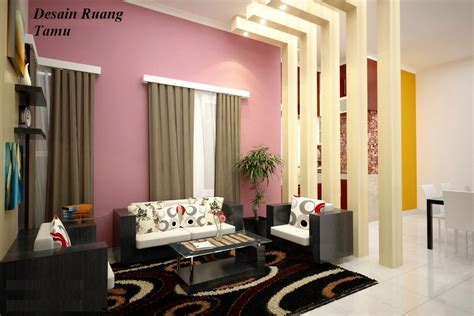 impian rumah minimalis idaman desain interior ruang tamu