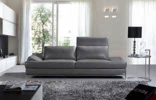 Gray Modern Sofa Divani Casa Izzy Modern Grey Leather Sofa