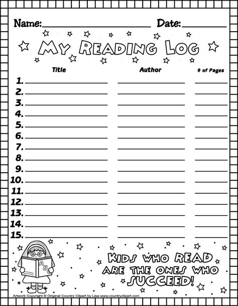 printable reading log for kindergarten what miss wants reading record
