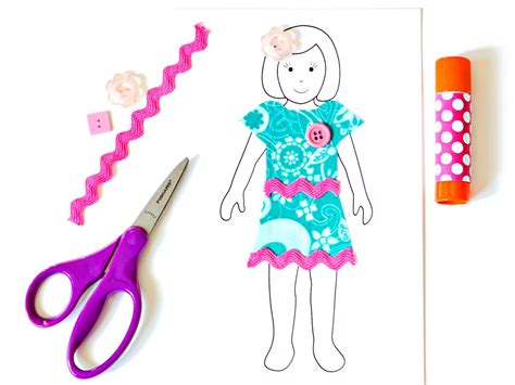 How To Make A Paper Doll Step By Step - how to make paper dolls with downloadable patterns how