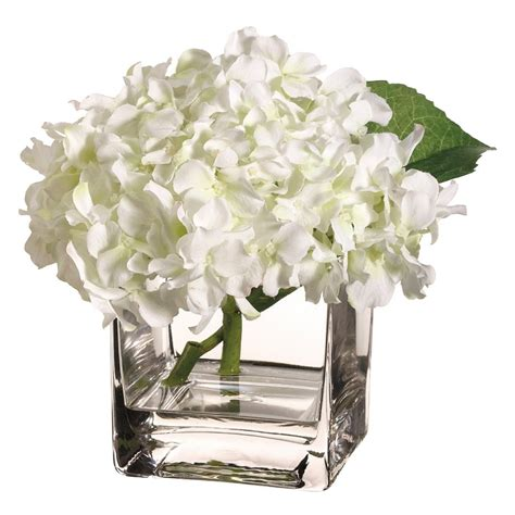 Hydrangea In Vase by Use Artificial Flowers As Cubicle Decorations