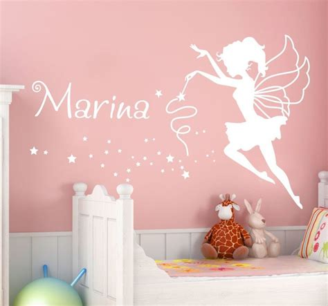 Wall Sticker Quotes For Bedrooms by Personalised Name Fairy Wall Sticker Tenstickers