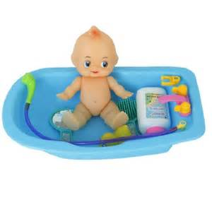 Baby Bathtub Toys Buy 6cps Baby Doll In Bath Tub With Shower Accessories Set