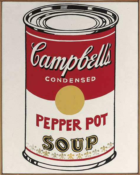 andy warhol soup cans andy warhol 1928 1987 cbell s soup can pepper pot