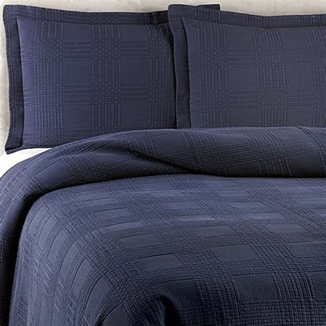 navy coverlet queen buy traditions linens farrah full queen coverlet in navy