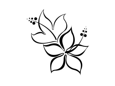 simple tattoo black and white flower tattoos black and white cliparts co