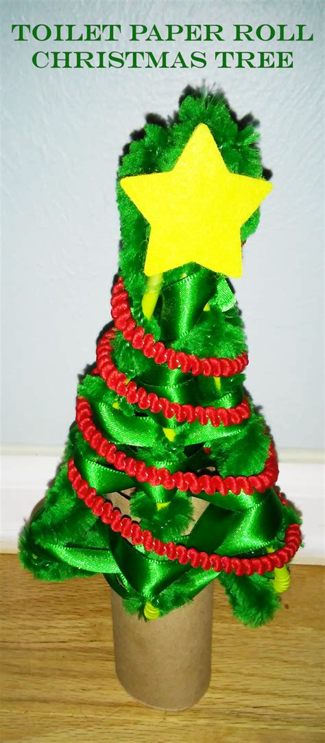 toilet paper tube christmas tree craft and giftatree