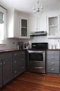Grey And White Kitchen Cabinets by Gray Kitchen Cabinet Paint Colors Transitional Kitchen