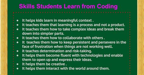 Mba No Coding Skills by These Are The Skills Students Learn From Coding