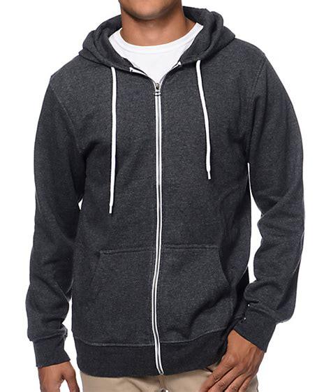 Hoodie Zipper zine hooligan black zip up hoodie
