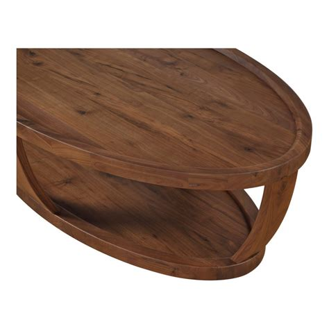 rustic oval coffee table oval coffee table rustic walnut products moe s