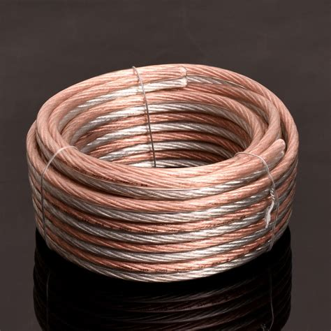 lot parallel speaker wire cable ofc gold silver          gauge ebay