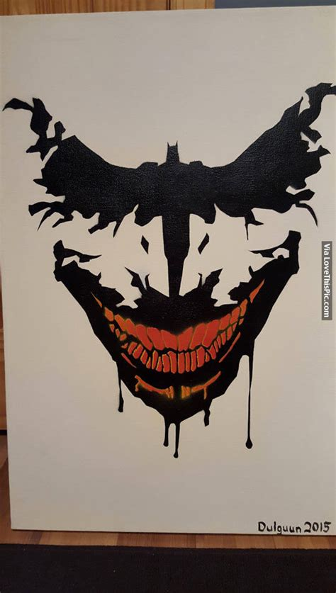 joker smile tattoo batman painting pictures photos and images for
