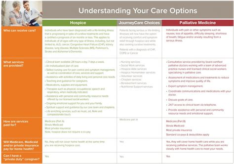 hospice vs comfort care hospice vs palliative care journeycare