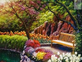 Discount Wall Mural online get cheap garden scenes paintings aliexpress com