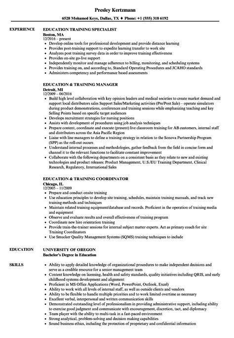 Education Specialist Resume