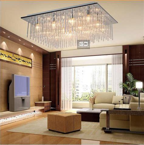 modern fashion square ceiling living room bedroom lighting lamps glass rod material design